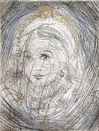 faust suite: portrait of marguerite by salvador dalí