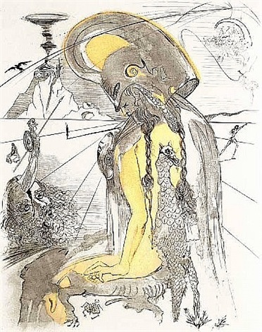 mythology suite: athena by salvador dalí