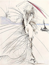 venus in furs suite: woman with whip by salvador dalí