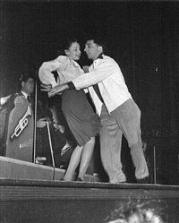 couple dancing on platform by weegee