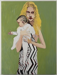 blonde with a baby by chantal joffe