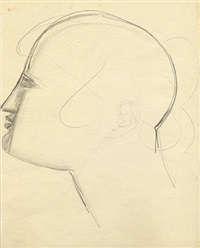 untitled (head study en-75) by elie nadelman
