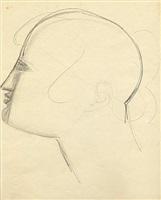 untitled (head study en-75) by elie nadelman