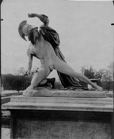 tuileries-alexandre combattant par.. by eugène atget