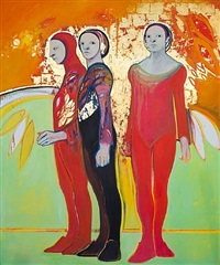 three figures by selina trieff