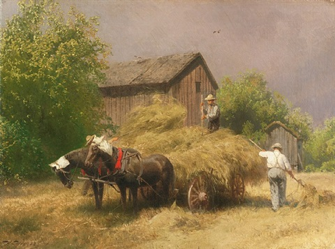 making hay while the sun shines by hermann herzog