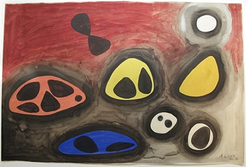 filled boulders by alexander calder