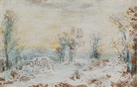 snow scene by ralph albert blakelock