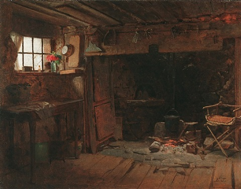 the new england kitchen by eastman johnson