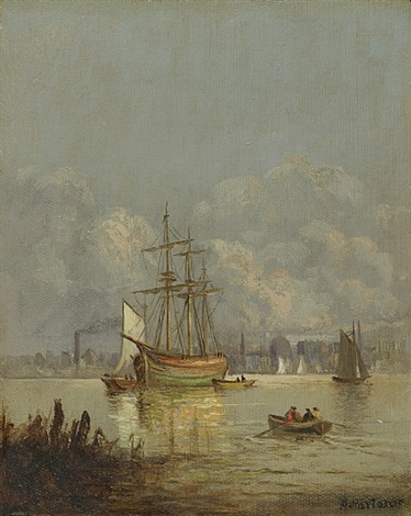 new york harbor by arthur parton