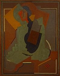 femme au gant by albert gleizes