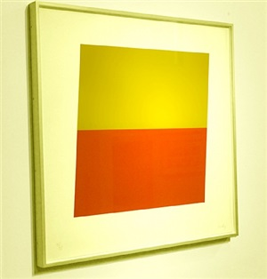 yellow over red orange by ellsworth kelly