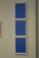 reflex (azul), tríptico by marco maggi