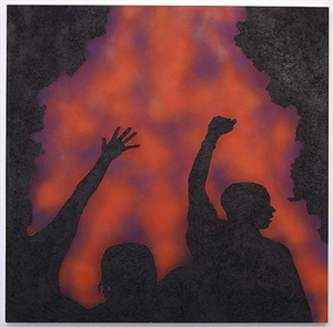 untitled (l.a. riots #1) by rico gatson