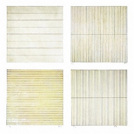 untitled (set of 4) by agnes martin