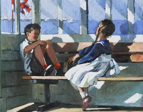 seaside conversation by sherree valentine daines