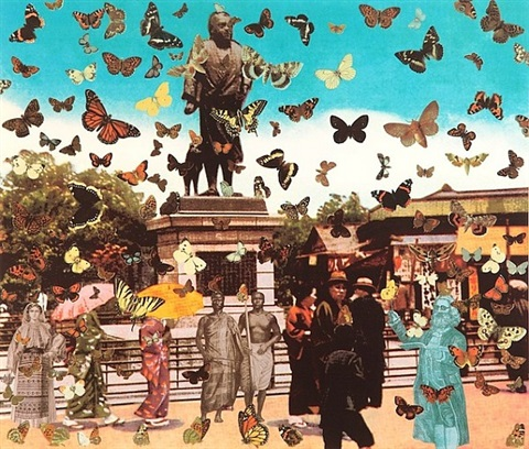 the butterfly man, tokyo (homage to damien hirst by peter blake