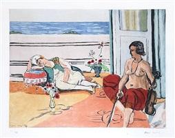 odalisque sur la terrasse (odalisque on the terrace) by henri matisse