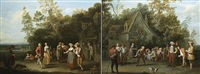 the village party<br>the games of bowls by pieter angillis