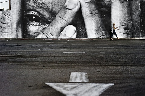the wrinkles of the city, los angeles west hollywood, usa, 2011 by jr