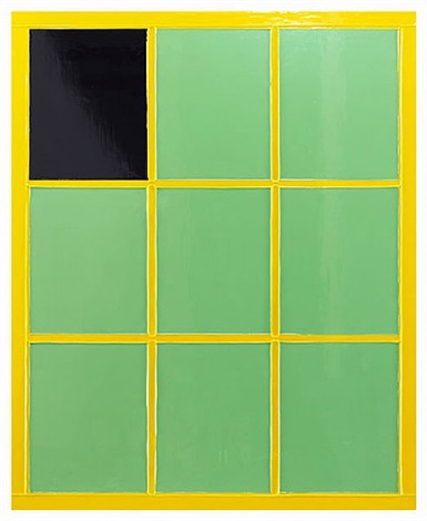 anxiety and the horse, green window by gary hume