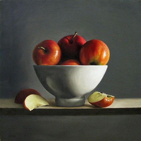 bowl of apples (sold) by michael naples