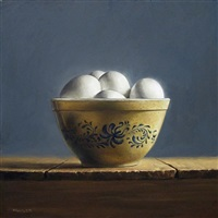 illuminated eggs (sold) by michael naples