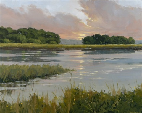 marsh light (sold) by carolyn walton