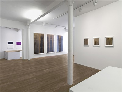callum innes: works on paper (1989 - 2012), installation view, gallery entrance