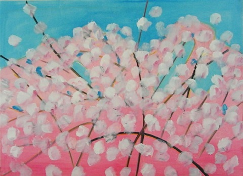 cherry blossoms by alex katz