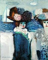 femme au bord de mer by jean-pierre cassigneul