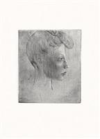 tête de femme, de profil (bloch 6) by pablo picasso