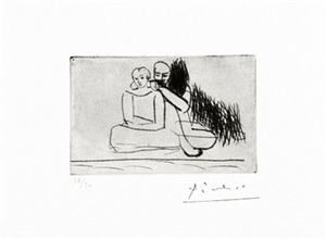 couple au bord de l'eau (bloch 71) by pablo picasso