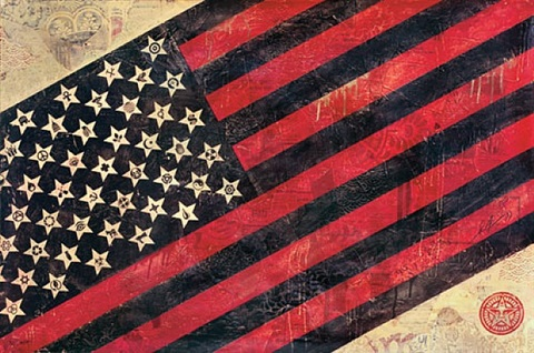 flag by shepard fairey