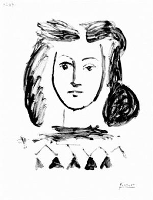 buste de jeune fille (bloch 421) by pablo picasso