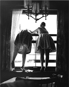 untitled (window cleaners, germany) by fred stein