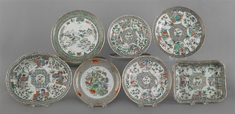 lot no. 247: group of chinese export porcelain