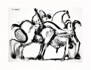 picador et taureau. i (bloch 1350) by pablo picasso