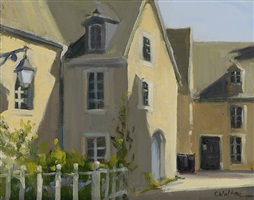 sunny corner, barfleur (normandy) (sold) by carolyn walton
