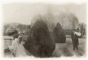 rosima in comme des garçons at vaux le vicomte, france, for parco by deborah turbeville