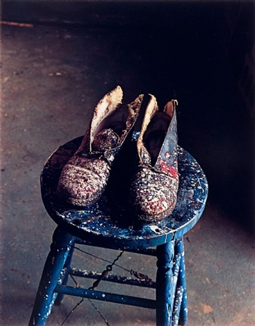 lee krasner's shoes, pollock studio, long island by evelyn hofer