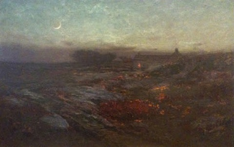 moonlight in november by dwight william tryon