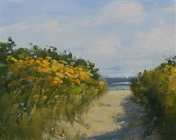 goldenrod at the beach by carolyn walton