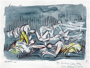 shelter drawing by henry moore