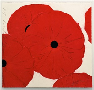 red poppies, march 21, 2012 by donald sultan
