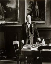 headwaiter, garrick club, london by evelyn hofer