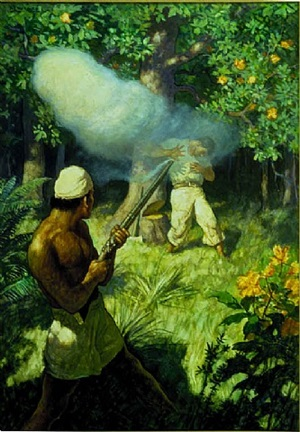 the chief raised his musket and fired - the assassination of christian fletcher by newell convers wyeth