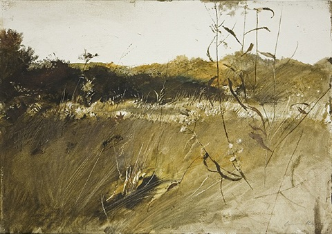 above the orchard (first version) by andrew wyeth