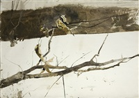 branch in the snow by andrew wyeth
