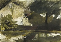 hoffman's barn by andrew wyeth